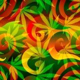 Marihuanaachtergrond. Stock Afbeeldingen