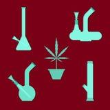 Marihuanaausrüstung vektor abbildung