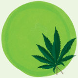 Marihuanablatt-Grünhintergrund Lizenzfreies Stockfoto