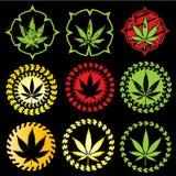 Marihuanablatt-Symbolillustration Stockfotografie
