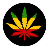 Marihuanablatt-Vektorikone stock abbildung