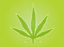 Marihuanablattabbildung Lizenzfreie Stockfotos
