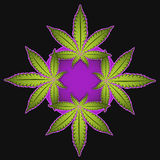Marihuanakarikatur-Symbolillustration Lizenzfreie Stockfotografie