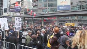 Marihuanaprotest Toronto 2011 - 3 stock video