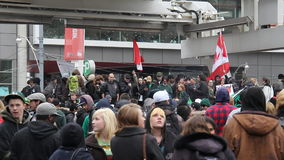 Marihuanaprotest Toronto 2011 - 11 stock footage
