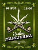 Marihuanaroker, onkruid die, drug vectorachtergrond waarschuwen royalty-vrije illustratie