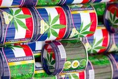 Marihuanasamen für Verkauf zu Bloemenmarkt, Amsterdam Lizenzfreie Stockfotografie
