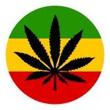 Marihuanavektorsymbol stock abbildung