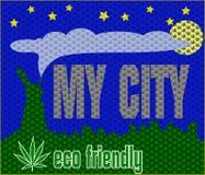 Marihuanna print concept Stock Image