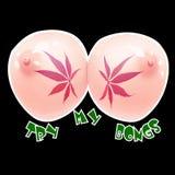 Marihuanna print concept Royalty Free Stock Photo