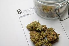 Marihuany medyczna recepta Zdjęcie Royalty Free