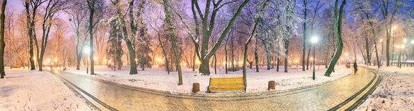 Mariinsky garden during inclement weather Royalty Free Stock Images