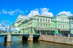 The Mariinsky Opera and Ballet Theater in St Petersburg Royalty Free Stock Images