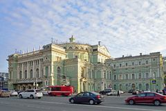 The Mariinsky Opera and ballet theatre on Arts square in St. Pet stock photo