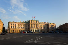 Mariinsky Palace. Building of Assembly of Saint-Petersburg Royalty Free Stock Photography