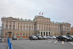 Mariinsky palace at Moika River in Saint Petersburg, Russia royalty free stock image