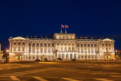 Mariinsky Palace on St. Isaac`s Square at night, St. Petersburg Stock Photos
