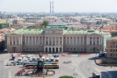 Mariinsky-Palast - St Petersburg, Russland Lizenzfreies Stockfoto