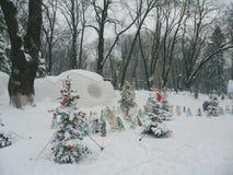 Mariinsky-Park im Winter, Kiew Lizenzfreies Stockfoto