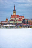Marija Bistrica church winter view Royalty Free Stock Photos