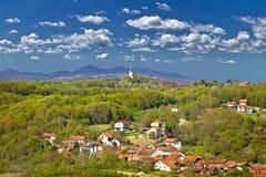 Marija Bistrica, nature verte de Zagorje photos stock