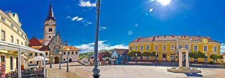 Marija Bistrica square colorful panorama Royalty Free Stock Photos