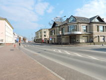 Marijampole stad, Litauen Arkivbild