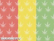 Marijuana abstrata do estilo do fundo Fotos de Stock Royalty Free