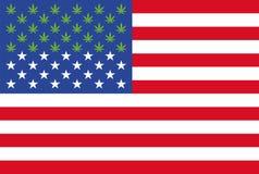 Marijuana agora legal em 28 estados do gráfico da informação dos E.U. Fotos de Stock