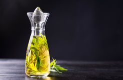 Marijuana alcohol drink in a bottle Royalty Free Stock Images