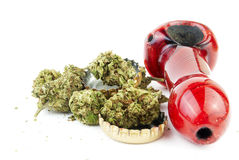 Marijuana and Alcohol Royalty Free Stock Photography
