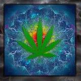 Marijuana Art. Marijuana Leaf Colorful Art Abstract Stock Photos