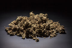 Marijuana. On a black background Royalty Free Stock Image