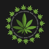 Marijuana - cannabis. Drugs Ruin Lives Royalty Free Stock Image
