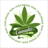 Marijuana - cannabis. Drugs Ruin Lives Stock Photos