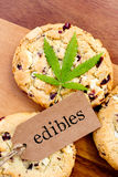 Marijuana - cannabis - Edibles medicinal - cookies imagem de stock royalty free
