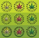 Marijuana cannabis ganja leaf symbol graphic royalty free illustration