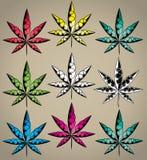 Marijuana cannabis ganja leaf symbol graphic stock illustration