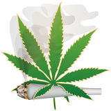 Marijuana-Cannabis-Joint Royalty Free Stock Image