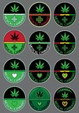 Marijuana cannabis leaf icon  background wallpaper Royalty Free Stock Images