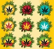 Marijuana cannabis leaf seasonal  illustration Royalty Free Stock Photo