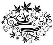 Marijuana cannabis leaf texture background  illustration Royalty Free Stock Image