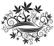 Marijuana cannabis leaf texture background  illustration Royalty Free Stock Image