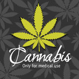 Marijuana - cannabis. For medical use. Vector set Royalty Free Stock Image