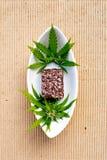 Marijuana - Cannabis - Medicinal Edibles - Coconut Brownies Royalty Free Stock Photo