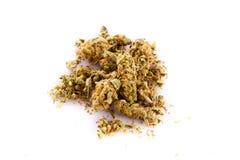 Marijuana cannabis on white background addicted drugs Royalty Free Stock Photography
