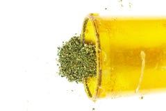 Marijuana cannabislegalisering, den vita bakgrundsstudion, förgiftar Fotografering för Bildbyråer