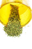Marijuana cannabislegalisering, den vita bakgrundsstudion, förgiftar Arkivfoto