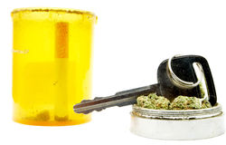 Marijuana, Car Key, Driving Under the Influence Stock Photography