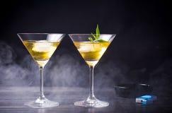 Marijuana cocktails against black background Royalty Free Stock Photos